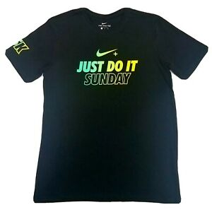Corteza Descortés alondra  NEW Nike Dri-Fit Nike+ Run Club NRC Just Do It Sunday 5K Running T-Shirt  Size M | eBay