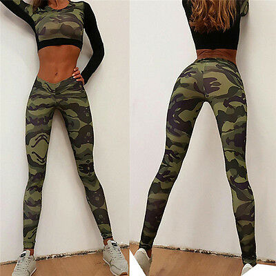 Women Stretch Sports Pants Running Gym Trousers High Waist Yoga Fitness Leggings