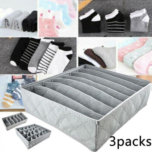 3xUnderwear Bh Socken Krawatte Schublade Aufbewahrung Organizer Boxen Closet