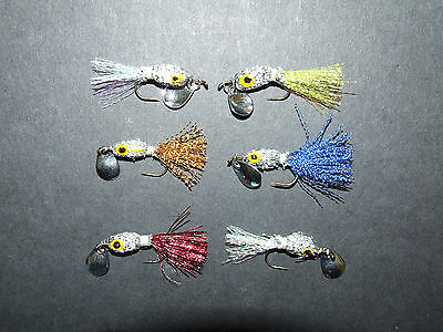 Gummy Minnow Blue Fly Bonefish, Trout, Redfish, Bass Fly Fishing Flies x 6
