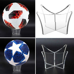 Acrylic Clear Ball Display Stand Rugby Football Basketball Soccer Holder