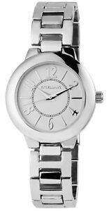 Excellanc-Damenuhr-Weiss-Silber-Analog-Metall-Quarz-Armbanduhr-X1800167005