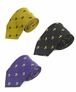Men-039-s-French-Fleur-de-Lis-Pattern-Neck-Tie-FLT02