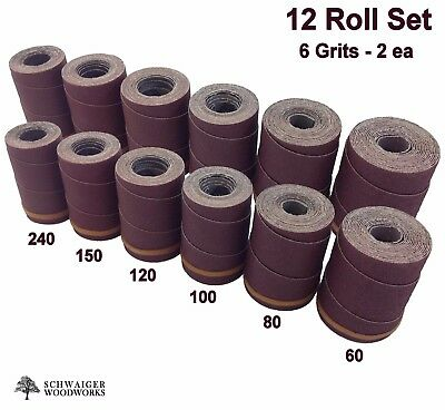 Drum Sander Sanding Wraps//Rolls 12 Pc Set JET//Performax 16-32 Ryobi WBS1600