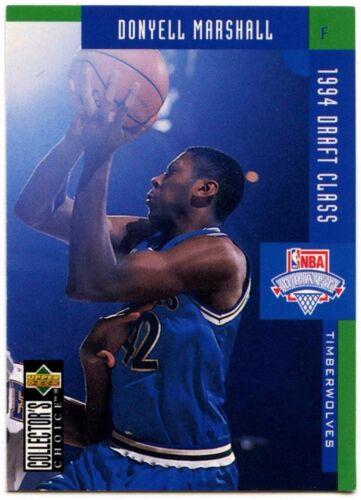 C502A Donyell Marshall #410 coleccionistas opción 1994-5 Tarjeta de baloncesto francés