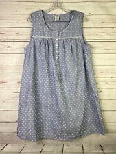 NWT Womens Nightgown Croft /& Barrow 100/% Woven Cotton Aqua Blue Sleeveless