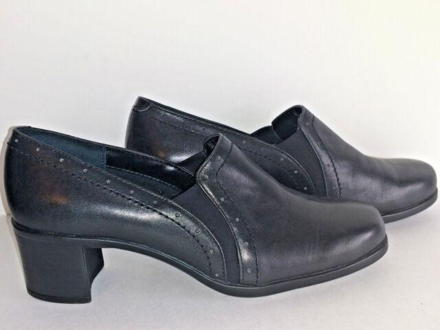 e54054a70c9c EASY SPIRIT Womens Shoes Size 6W 6 Wide W Black Slip Ons