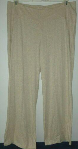 NEW PURE J JILL Sleep 1X 2X Ultrasoft Pants PJ Lounge Cotton//Mdl Oatmeal Beige