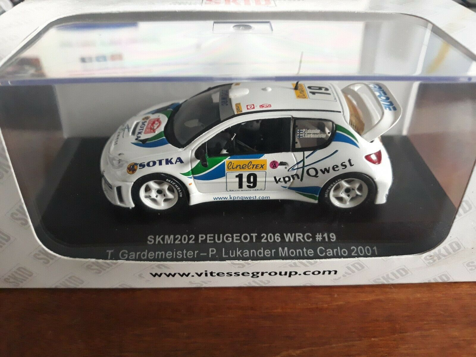 Skid 1 43 Peugeot 206 WRC Rally Monte Carlo 2001 SKM202