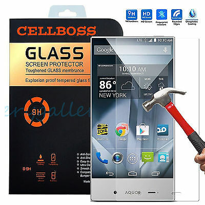 Premium Tempered Glass Screen Protector Guard for SHARP AQUOS Crystal 306