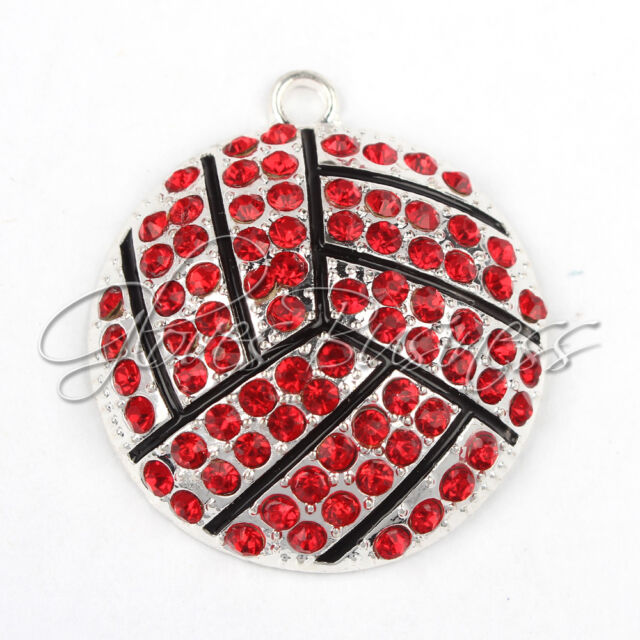 1PC New 35*39mm Sports Memorabilia Volleyball Pendant For Chunky Bead Necklace