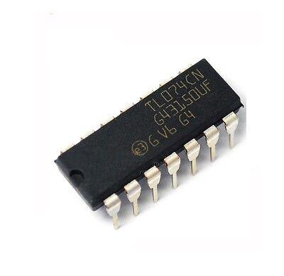 100PCS IC TL084 TL084CN ST OPAMP JFET 3MHZ QUAD 14DIP NEW