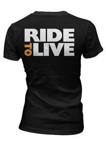 Skull Crossbones Biker Hardcore Chopper Motorcycle Rider Juniors V-neck T-shirt