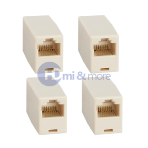 8P8C Crossover 4x Cat5e RJ45 Inline Ethernet Network Patch Cable Coupler