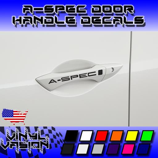 4x A-SPEC Door Handle Decal Sticker TSX TL TLX RL MDX RDX