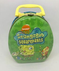 Easter-Nickelodeon-SpongeBob-SquarePants-Mini-Candy-Tin-Box-Hinged-Handle-2003