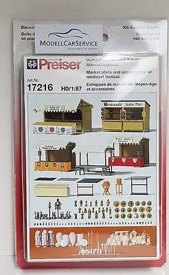 Preiser 17216 Spur H0 Verkaufsstände u Bausatz #NEU in OVP## Zubehör