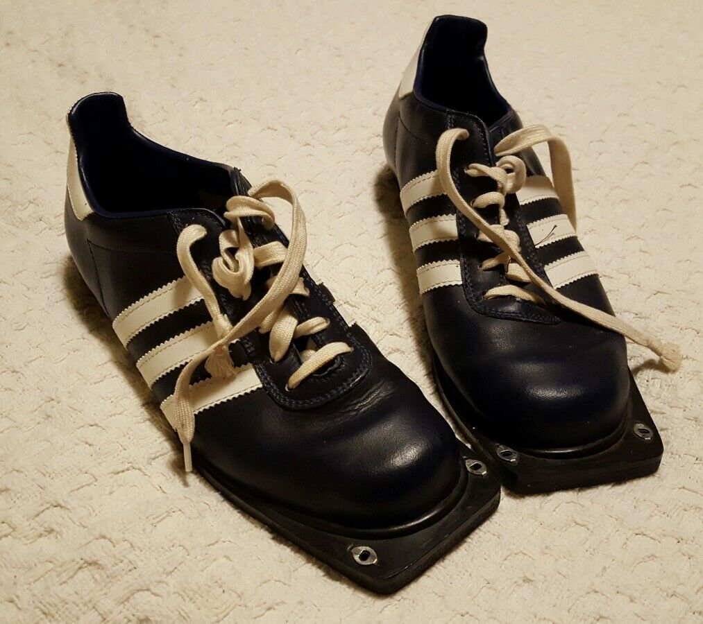 Pre-owned • Adidas Rare Vintage Cross Country Ski Shoes Navy Seasonal clearance sale