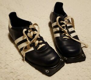 Pre-owned ? Adidas Rare Vintage Cross Country Ski Shoes Navy