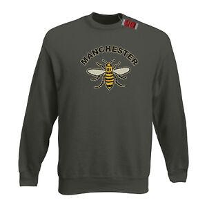Manchester-Travailleur-Abeille-Manc-Mancuniens-Oasis-Couleur-Choix-Premium-Sweat