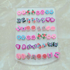 wholesale lot 24 pairs children Jewelry Cute allergic Free needle earring stud