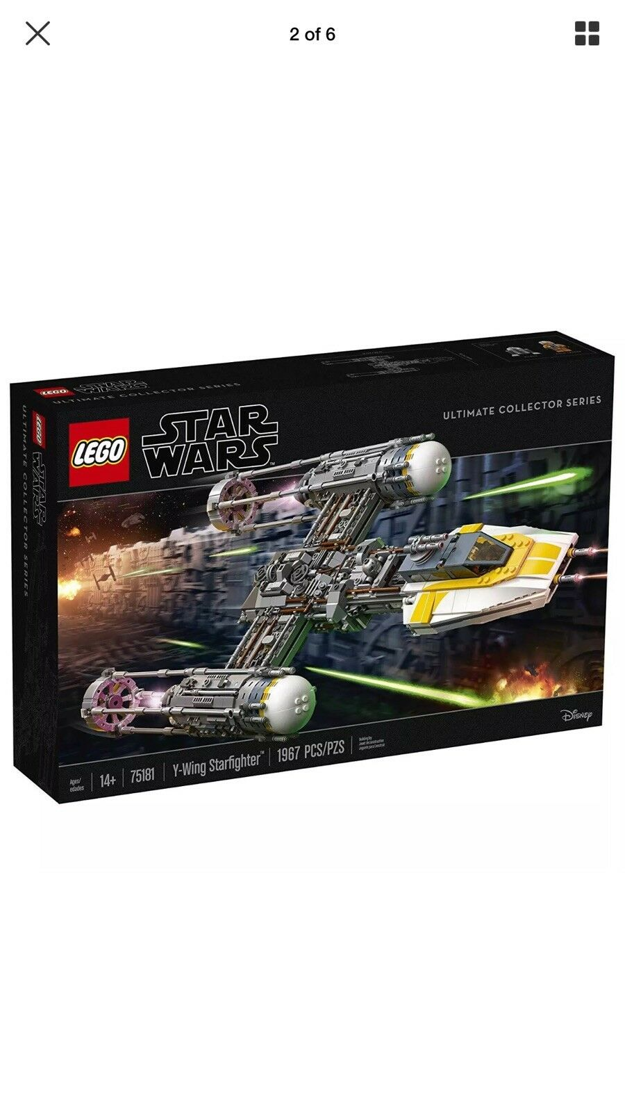 LEGO Star Wars Ultimate Collector Series Y-Wing Starfighter 75181 [Toy 1967 Pcs]