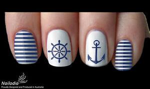 Anchor Sailor Navy Nail Art Water Transfer Decal Sticker Wrap Tattoo