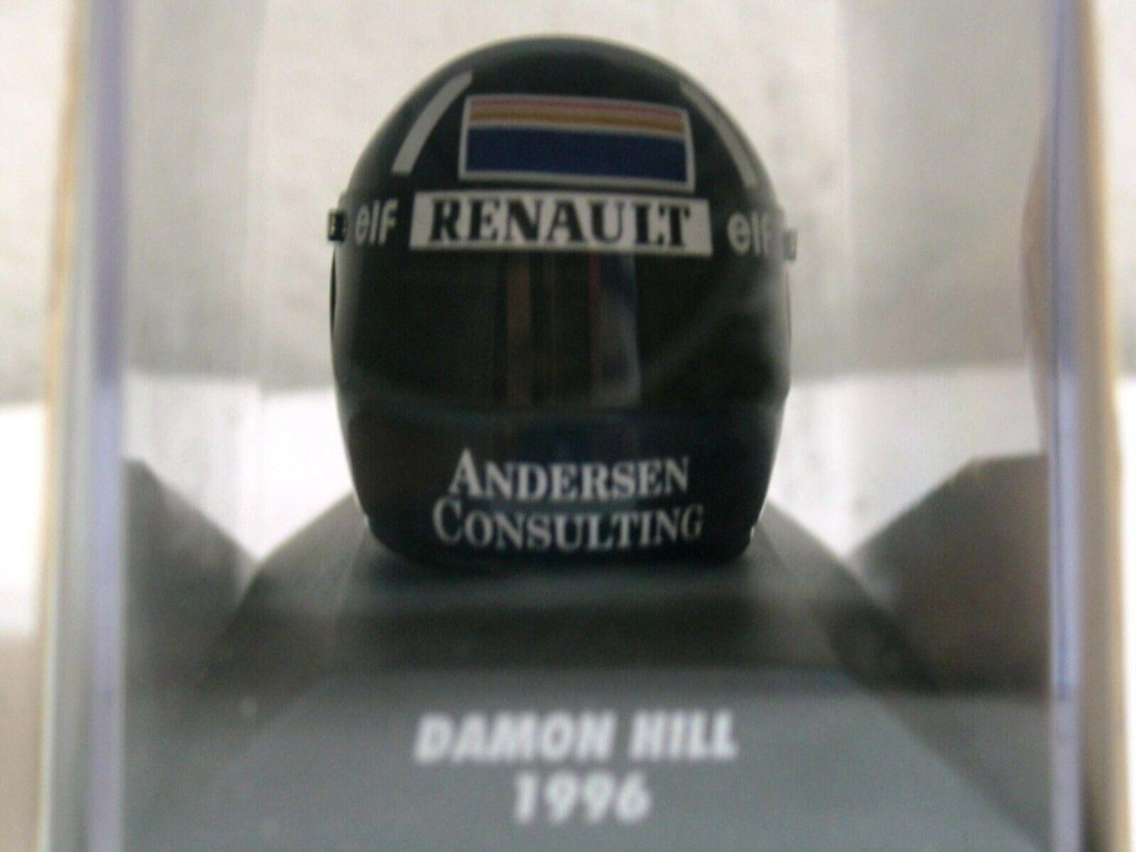 WOW EXTREMELY RARE Helmet Damon Hill 1996 Arai Winner GP France 1 8 Minichamps
