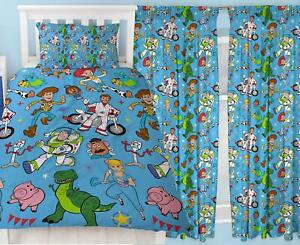 Details about Toy Story 4 Rescue Single Duvet & Matching Readymade Curtains  Bedding Set