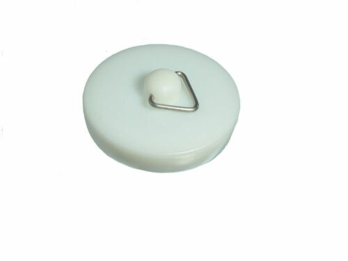 "Pack of 200 White Plastic Basin Stopper Sink With Bath Plug 1 34 "" 45Mm"