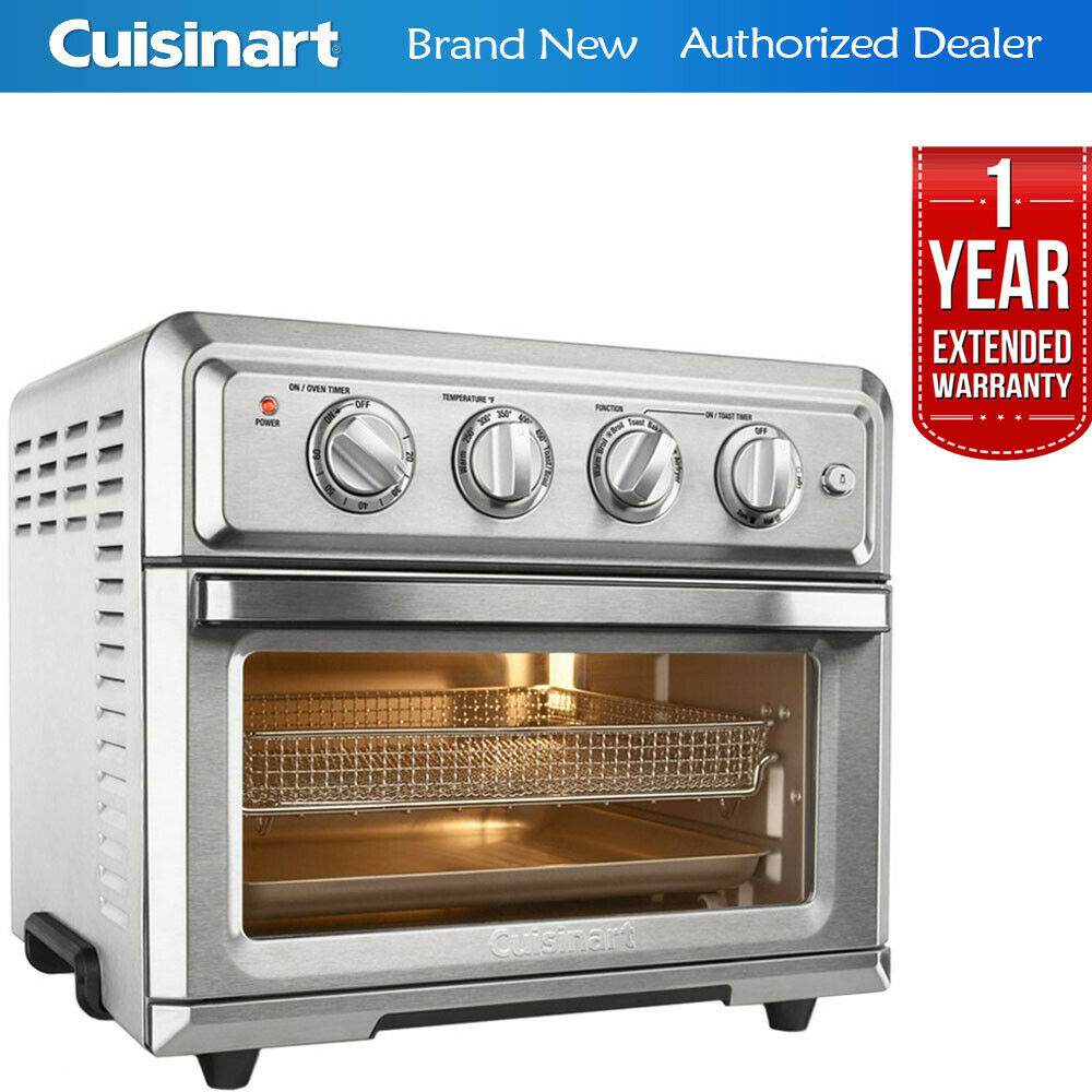 Cuisinart TOA-60 Air Fryer Toaster Oven w  1 Year Extended Warranty
