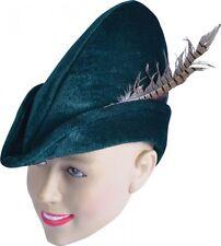 Adults Robin Hood / Peter Pan Medieval Felt Hat Fancy Dress Costume Accessory