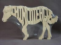 Chincoteague Misty Miniature Horse Pony Wooden Horse Puzzle Tack Room Toy