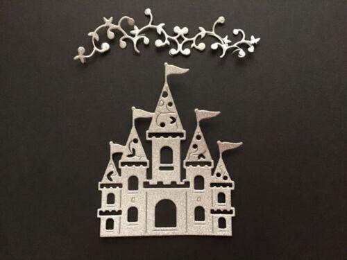 Carriage Glitter Die Cuts// Fantasy Scrapbooking Cardmaking Cinderella Castle