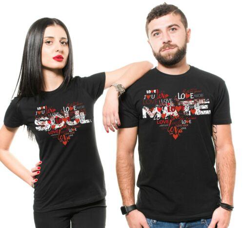 Soulmate Couple Matching Shirts Husband Wife Black Shirts