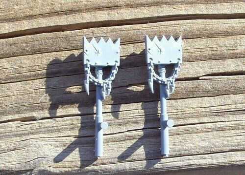 40K Orks Nobz Bosspole Chained Teeth Bits 2 Bitz