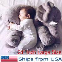 Elephant Baby Stuffed Doll Plush Big Toy Children Kids Soft Long Nose Cute