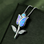 925-Silver-Jewelry-Flower-Blue-Fire-Opal-Charm-Pendant-Necklace-Chain-Jewellery thumbnail 1