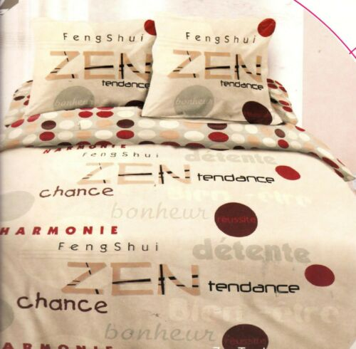 – Zen Tendance Lit 2 places 220x240cm 3 pièces Parure de couette