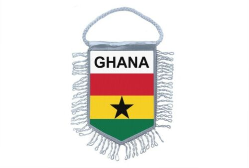 Club Flag Mini Country Flag Car Decoration Ghana Ghanaian