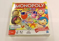 Monopoly Junior Party Hasbro Parker Brothers Board Game *DAMAGED BOX**
