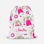 Personalised Teddy Bear Girls Children/'s PE Swimming School Kids Drawstring Bag
