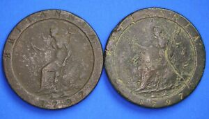 George-III-coin-collection-2x-1797-Cartwheel-penny-1d-20126