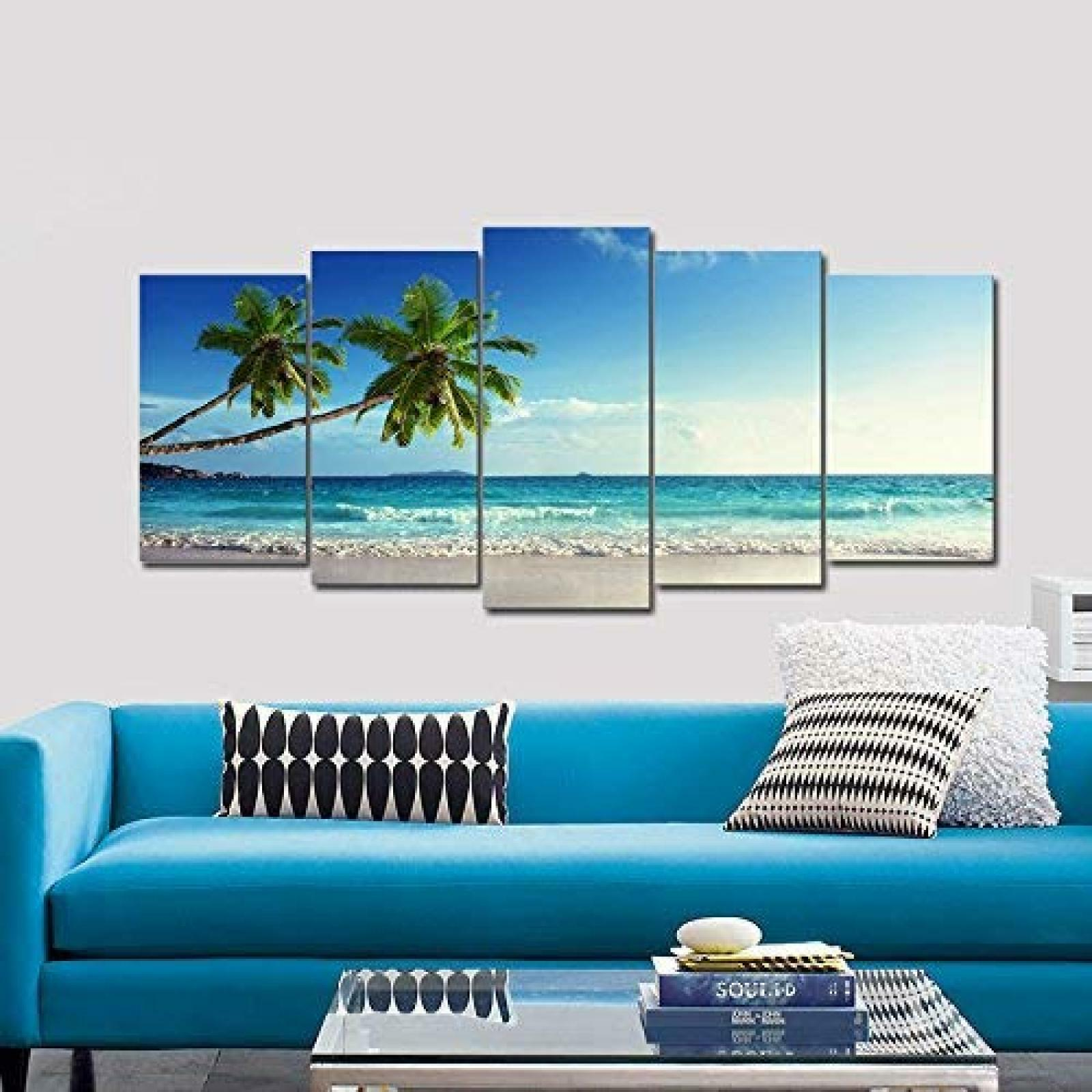 Home Bedroom Living Room Picture Painting Ocean Sea Beach Artwork Wall Bath Gift