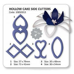 JEM Hollow Cake Side Cutter Set of 4 Gum Paste Cutters #108SD013