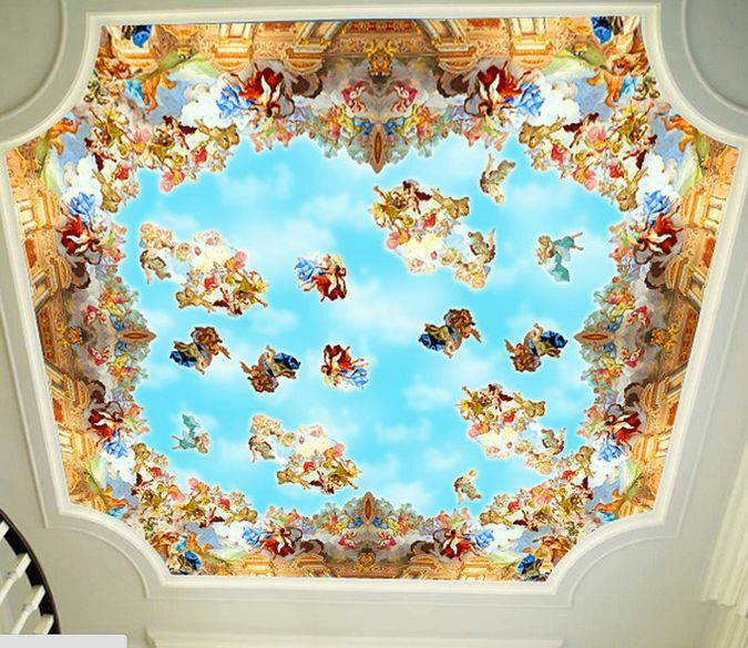 3D Religious ceiling art 0420 Wall Paper Wall Print Decal Wall Deco AJ WALLPAPER