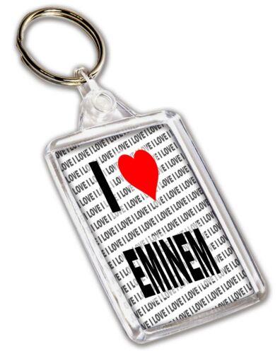 Birthday Gift I Love Eminem Keyring Stocking Filler Christmas
