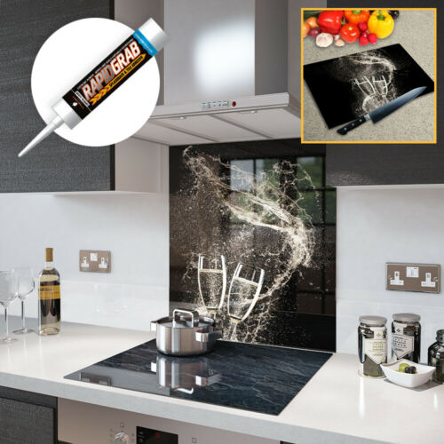 Made By Premier Range Glass Splashbacks Champagne Toast Glass and Accessories