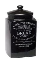 Charlotte Watson Bread Crock Earthenware Black
