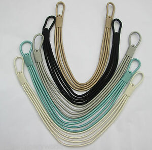 Image Is Loading D3 Contemporary Corded Modern Banded Silk Curtain Tie